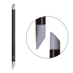 IRISK, Кисть силиконовая двусторонняя Nail Sculptor, Скошенный овал/Скошенное перо