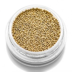 TNL, Бульонки металлические 0,8 мм (золото) TNL Professional