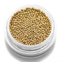 TNL, Бульонки металлические 1 мм (золото) TNL Professional