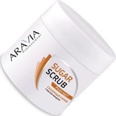 Aravia professional, скраб сахарный с маслом миндаля для тела, 300 мл