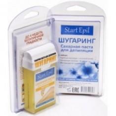 Aravia Professional Start Epil - Набор для шугаринга, сахарная паста в картридже Мягкая 100 г и полоски для депиляции Aravia Professional (Россия)