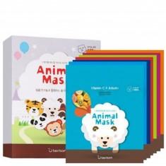 маска тканевая набор 7 шт berrisom animal mask series 7p set