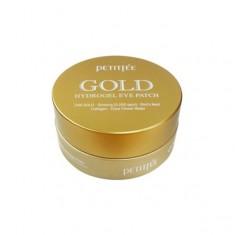патчи гидрогелевые для кожи вокруг глаз с золотом petitfee gold hydrogel eye patch