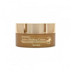 крем для лица питательный кислородный deoproce fermentation active healing cream