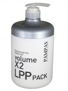 восстанавливающая маска для волос интенсивная терапия pampas volume x2 lpp hair pack