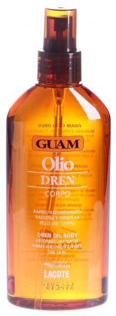 GUAM Масло с дренажным эффектом для массажа / DREN 200 мл