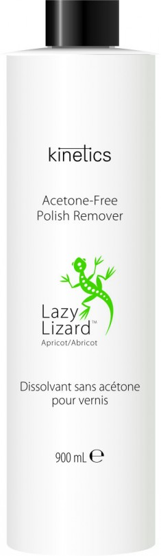 KINETICS Ремувер без ацетона для снятия лака Абрикос / Lazy Lizard 900 мл