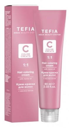 TEFIA 5.11 краска для волос, светлый брюнет пепельный интенсивный / Color Creats 60 мл