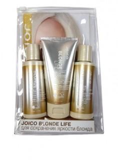JOICO Набор дорожный для сохранения чистоты и сияния блонда Бриллиантовый блонд (шампунь, кондиционер, маска) / Blond Life 3*50 мл