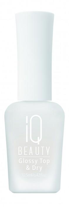IQ BEAUTY Покрытие защитное зеркальное и сушка / Glossy Top & Dry 12,5 мл
