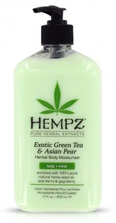 HEMPZ Молочко увлажняющее для тела, зеленый чай и груша / Exotic Green Tea & Asian Pear Herbal 500 мл