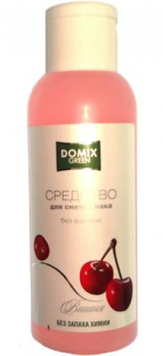 DOMIX Средство без ацетона и запаха химии для снятия лака Вишня / DG 105 мл