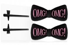 DOUBLE DARE OMG! Заколки для фиксации волос во время косметических процедур, черные / SPA