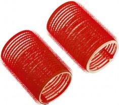 DEWAL BEAUTY Бигуди-липучки красные, d 36x63 мм 10 шт