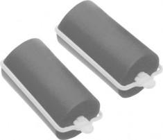 DEWAL BEAUTY Бигуди резиновые серые, d 28x70 мм 10 шт