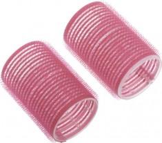 DEWAL BEAUTY Бигуди-липучки розовые, d 44x63 мм 10 шт