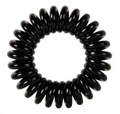 DEWAL BEAUTY Резинки для волос Пружинка, цвет черный 3 шт