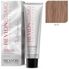 REVLON PROFESSIONAL 6.12 краска для волос, темный блондин пепельно-переливающийся / RP REVLONISSIMO COLORSMETIQUE 60 мл