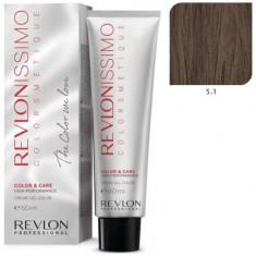 REVLON PROFESSIONAL 5.1 краска для волос, светло-коричневый пепельный / RP REVLONISSIMO COLORSMETIQUE 60 мл
