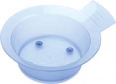 DEWAL PROFESSIONAL Чаша для краски с ручкой, с резинкой на дне (голубая) 300 мл