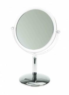 DEWAL PROFESSIONAL Зеркало настольное, пластик, серебристое 15х21,5 см