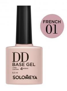 SOLOMEYA База-DD суперэластичная на основе нано-каучукового материала / French 01 DD BASE GEL Daily Defense 8,5 мл