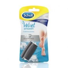 SCHOLL Сменные роликовые насадки для электрической роликовой пилки 1 экстражесткий ролик + 1 ролик для полировки