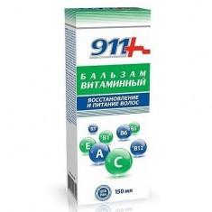 911 бальзам для волос витаминный восстановление и питание 150мл