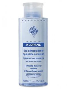 Клоран (Klorane) Очищающая вода с экстрактом Василька для чувствительной кожи лица, глаз и губ 400 мл