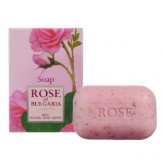 Rose of Bugaria мыло натуральное косметическое 100г с частичками лепестков роз