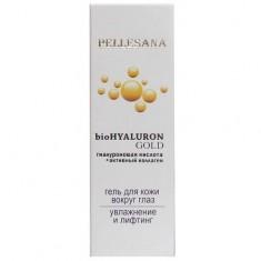 Pellesana biohyaluron gold гель с гиалуроновой кислотой активным коллагеном и золотом для кожи вокруг глаз 15 мл