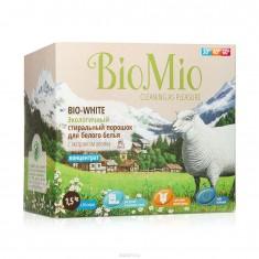 BIOMIO BIO-WHITE концентрированный стиральный порошок без запаха с экстрактом хлопка для белого белья 1,5кг