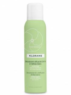 Клоран (Klorane) Дезодорант спрей с белым алтеем 24 часа эффективности 125 мл