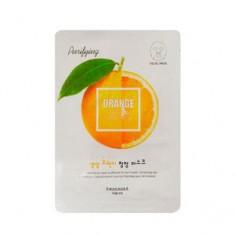 Маска с экстрактом апельсина освежающая для лица, 20 мл (Welcos)