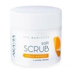 Скраб мягкий с маслом персика, 300 мл (Aravia Professional)