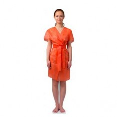 Халат-кимоно без рукавов, оранжевый, 10 шт. (Чистовье) ЧИСТОВЬЕ
