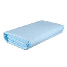 Коврик из SMS, белый/голубой, 100 шт., 40*40 см (Чистовье) ЧИСТОВЬЕ