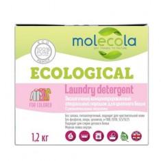 MOLECOLA Стиральный порошок для цветного белья с растительными энзимами 1,2кг