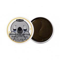 патчи для кожи вокруг глаз с черным жемчугом и золотом milatte fashiony black pearl gold hydrogel eye patch