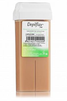 DEPILFLAX 100 Воск для депиляции в картридже, капучино 110 г