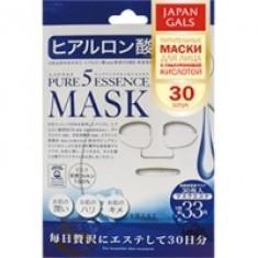 Japan Gals Pure 5 Essential - Маски для лица с гиалуроновой кислотой для очень сухой кожи, 30 шт.