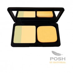 POSH Пудра компактная минеральная + спецэффект № 3, натурель 8 г