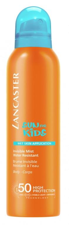 LANCASTER Спрей солнцезащитный водостойкий с возможным нанесением на влажную кожу для детей / Sun Kids 200 мл