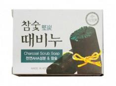 Отшелушивающее мыло с экстрактами древесного угля DONGBANG Charcoal stain remover soap 100 г