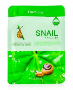 Маска с экстрактом улитки FARMSTAY Snail visible difference mask sheet 23 мл