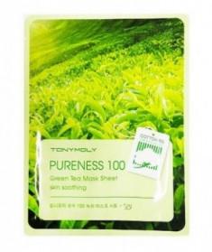 Тканевая маска с зеленым чаем TONY MOLY Pureness 100 green tea mask sheet 21 мл
