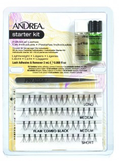 ANDREA Набор стартовый (пучки комбинированные, пинцет, клей, удалитель) / Perma Lash Starter Kit