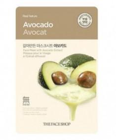 Маска с экстрактом авокадо THE FACE SHOP Real nature mask sheet avocado 20 г.