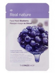 Маска с экстрактом черники THE FACE SHOP Real nature mask sheet blueberry 20 г.