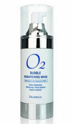 Маска кислородная для лица осветляющая 4в1 DEOPROCE O2 Bubble brightening mask 100мл